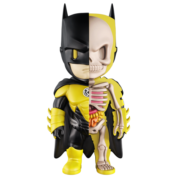 XXRAY Batman Yellow Lantern 4-inch figure by MightyJaxx and Jason Freeny MightyJaxx Vinyl Art Toy Tenacious Toys®