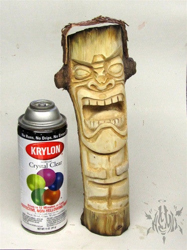 Tikistein wood carving by Mike NEMO Mendez - Tenacious Toys® - 5