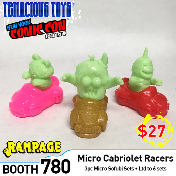 Cabriolet Racers sofubi set by Rampage Toys [SOLD OUT] Rampage Toys Sofubi Tenacious Toys®