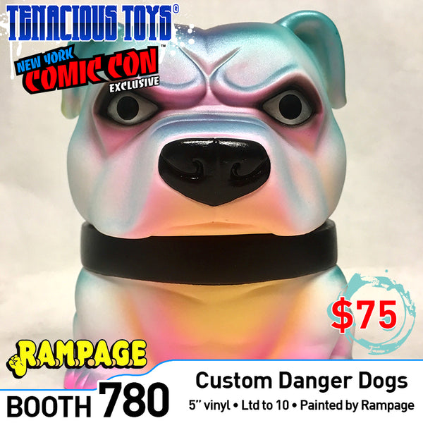 "Mexifubi Danger Dog 5"" vinyl custom painted by Rampage Toys"