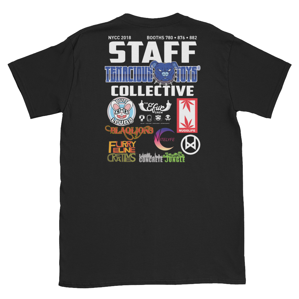 Tenacious Collective NYCC 2018 Booth Staff T-Shirt Tenacious Toys Apparel Tenacious Toys®