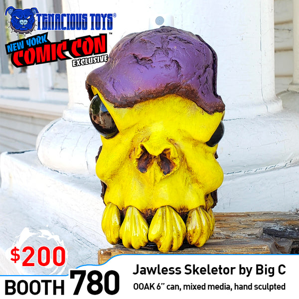 Jawless Skeletor Can 6-inch sculpture by Big C Big C Custom Tenacious Toys®