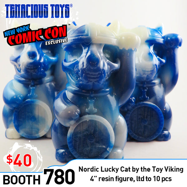Nordic Lucky Cat Permafrost Edition 4-inch resin figure by The Toy Viking (NYCC Exclusive) The Toy Viking Resin Tenacious Toys®