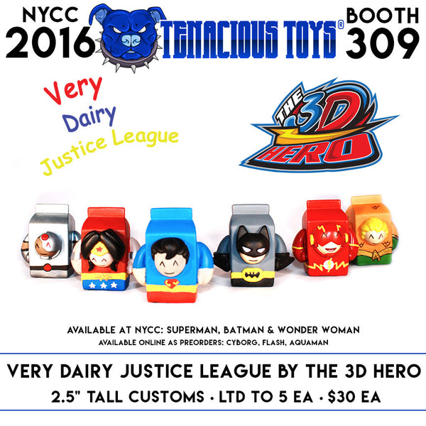 Very Dairy Justice League Figures by The 3D Hero - Tenacious Toys®