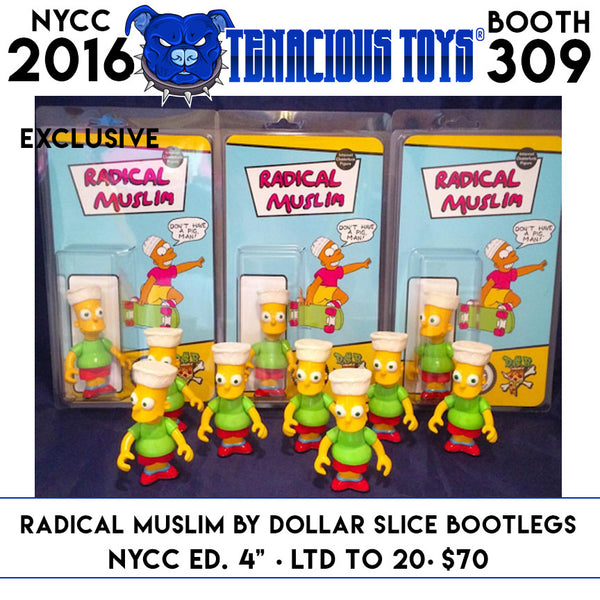 NYCC Exclusive Radical Muslim Action Figure by Dollar Slice Bootlegs - Tenacious Toys®