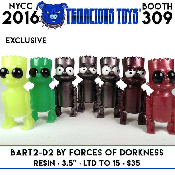 NYCC Exclusive Bart2-D2 Resin Figure by Forces of Dorkness Tenacious Toys®  Tenacious Toys®