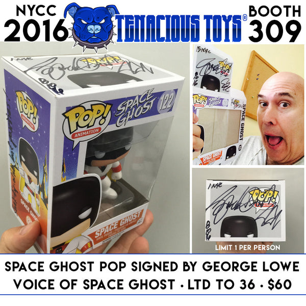 Space Ghost Funko POP Figure Signed by George Lowe - Tenacious Toys® - 1