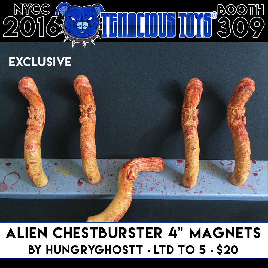 NYCC Exclusive Alien Chestburster Magnet by HungryGhostt - Tenacious Toys®
