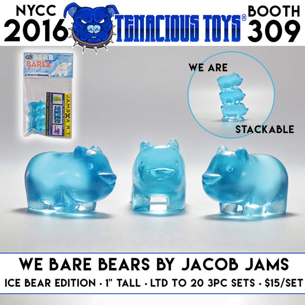 We Bare Bears Ice Bear Edition Set of 3 Resin Figures by Jacob JAMS - Tenacious Toys®