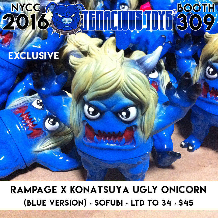 NYCC Exclusive Ugly Onicorn (Blue Ver) by RAMPAGE x KONATSUYA - Tenacious Toys®