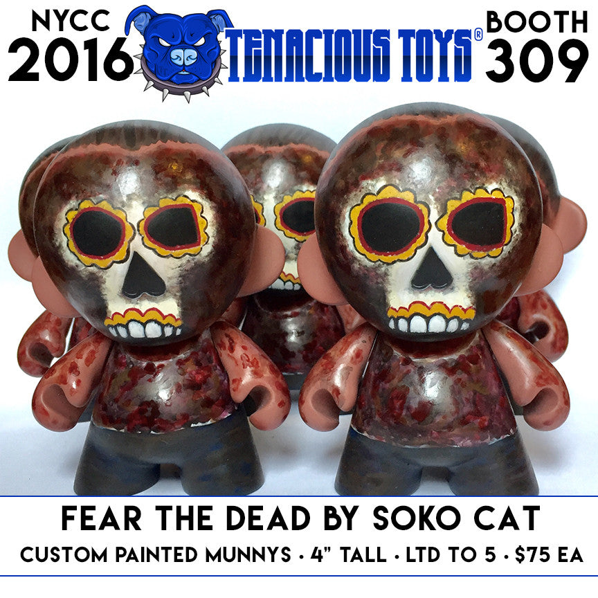 NYCC 2016 Exclusive Fear the Dead Custom Munny by SoKo Cat Tenacious Toys® Custom Tenacious Toys®
