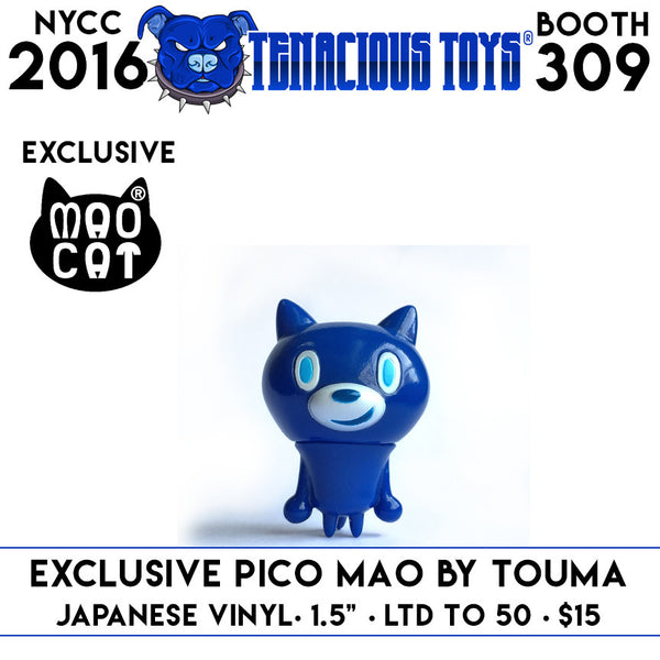 "NYCC Exclusive Pico Mao Cat 1.5"" vinyl figure by Touma - Tenacious Toys®"