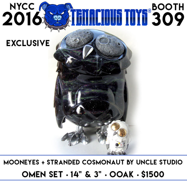 NYCC Exclusive MoonEyes + Stranded Cosmonaut Custom 14inch Omen Totem & 3inch Omen Set by UNCLE Studio - Tenacious Toys® - 1