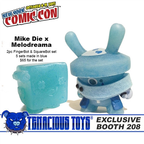 NYCC Exclusive FingerBot & SquareBot sets by Mike Die x Melodreama - Tenacious Toys®