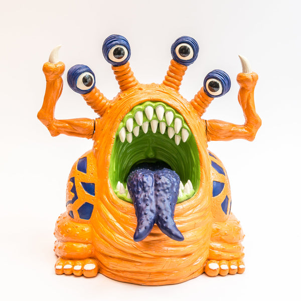 Trash Bag Bunch XL Muckoid Orange 7.5-inch vinyl figure by Last Resort Toys