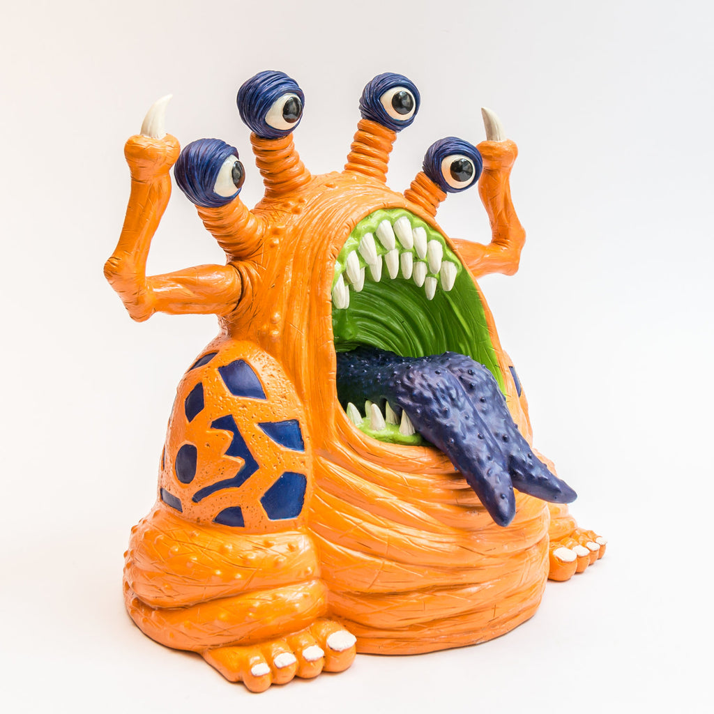 Trash Bag Bunch XL Muckoid Orange 7.5-inch vinyl figure by Last Resort Toys Last Resort Toys Vinyl Art Toy Tenacious Toys®