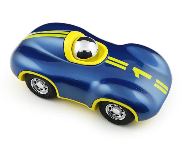 Playforever Speedy Le Mans Racing Car Yellow & Metallic Blue Boy Edition