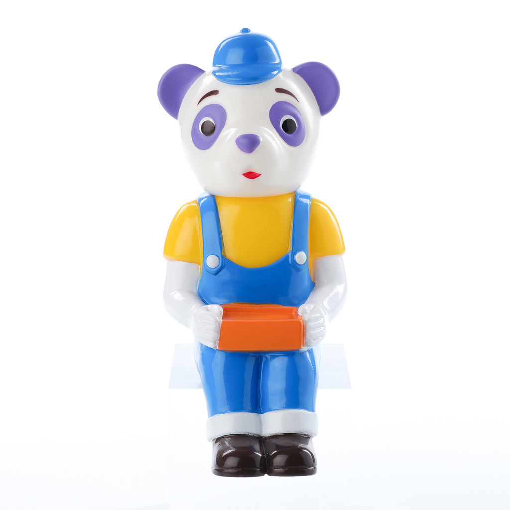 Pointless Island Panda Worker Lunchtime 4.7-inch vinyl figure by Awesome Toys Pointless Island Vinyl Art Toy Tenacious Toys®