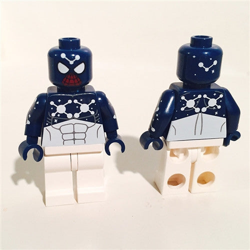 Blue Cosmic Spider Man Custom Minifigure - Comic Book Edition - Tenacious Toys®