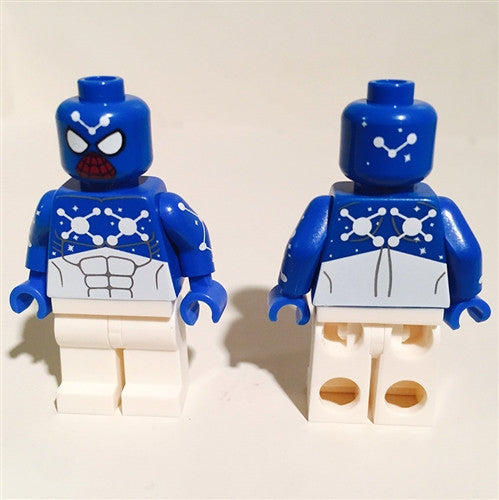 Blue Cosmic Spider Man Custom Minifigure - Video Game Edition SoCal Minifigures Custom Tenacious Toys®