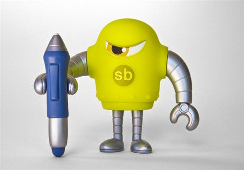 Sketchbot v.4 Green by Steve Talkowski vendor-unknown Vinyl Art Toy Tenacious Toys®