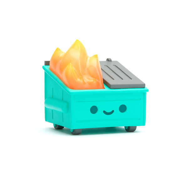 "Lil Dumpster Fire Aqua Edition 3.5"" Vinyl Figure PREORDER SHIPS MAY 2020 100soft Vinyl Art Toy Tenacious Toys®"