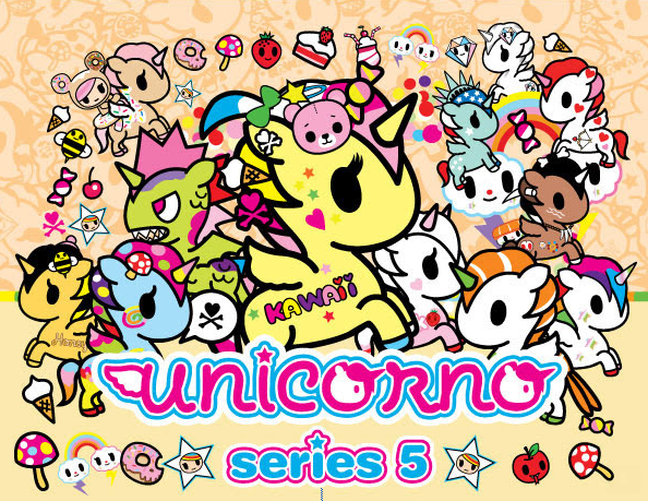 tokidoki Unicornos Series 5 Full Display Case of 24 Blind Boxed Mystery Figures - Tenacious Toys® - 1