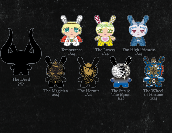 Kidrobot Arcane Divination 3-inch Dunny Series Case of 24 - Tenacious Toys® - 3