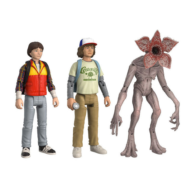 Stranger Things Action Figure 3-Pack Set 2: Will, Dustin and Demogorgon PREORDER