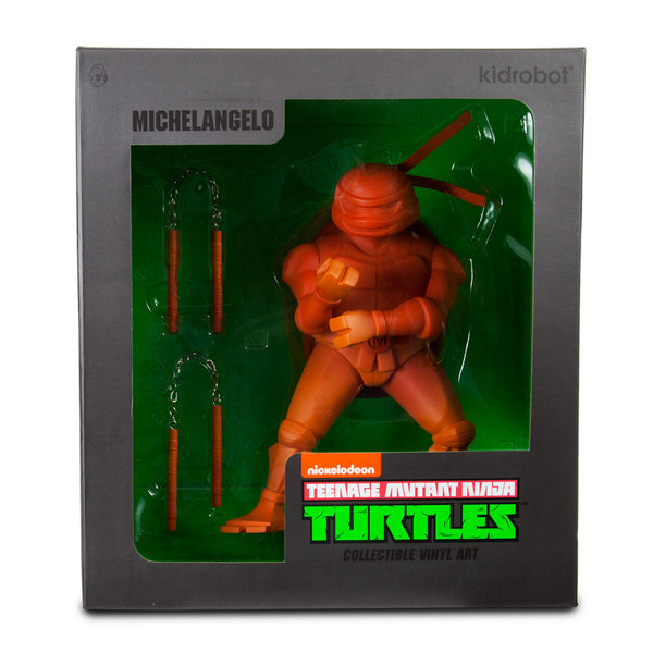 TMNT Michelangelo medium vinyl 8-inch Teenage Mutant Ninja Turtles figure by Kidrobot - Tenacious Toys® - 4