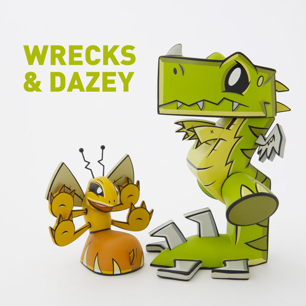 Joe Ledbetter Wrecks and Dazey 2-figure vinyl art toy box set