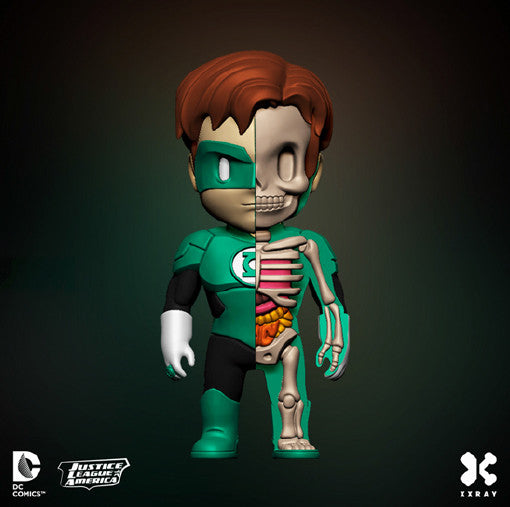 XXRAY Wave 2 DC Comics Green Lantern Anatomy 4-inch figure by MightyJaxx and Jason Freeny - Tenacious Toys® - 1