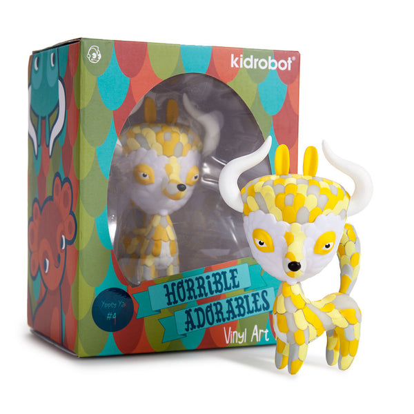 Kidrobot Horrible Adorables Yippey Yak 4in vinyl figure - Tenacious Toys® - 4