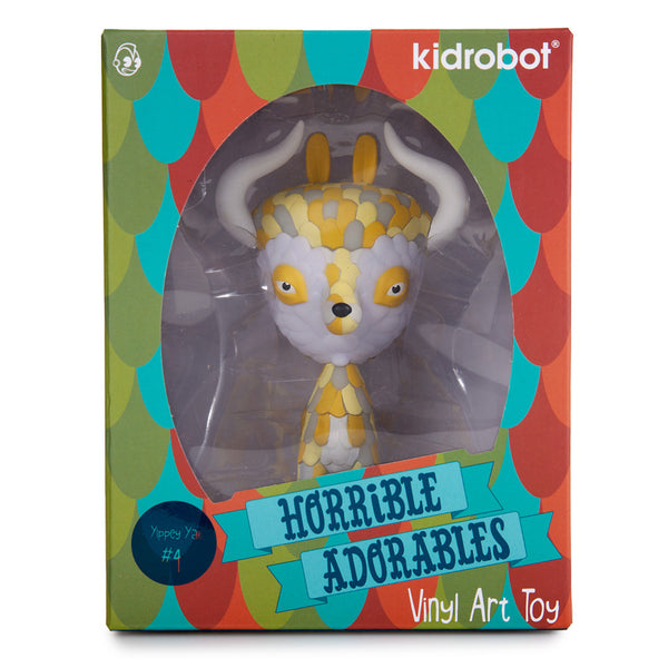 Kidrobot Horrible Adorables Yippey Yak 4in vinyl figure - Tenacious Toys® - 5