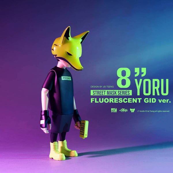 YORU Flourescent GID 8-inch Vinyl Action Figure by JT Studio