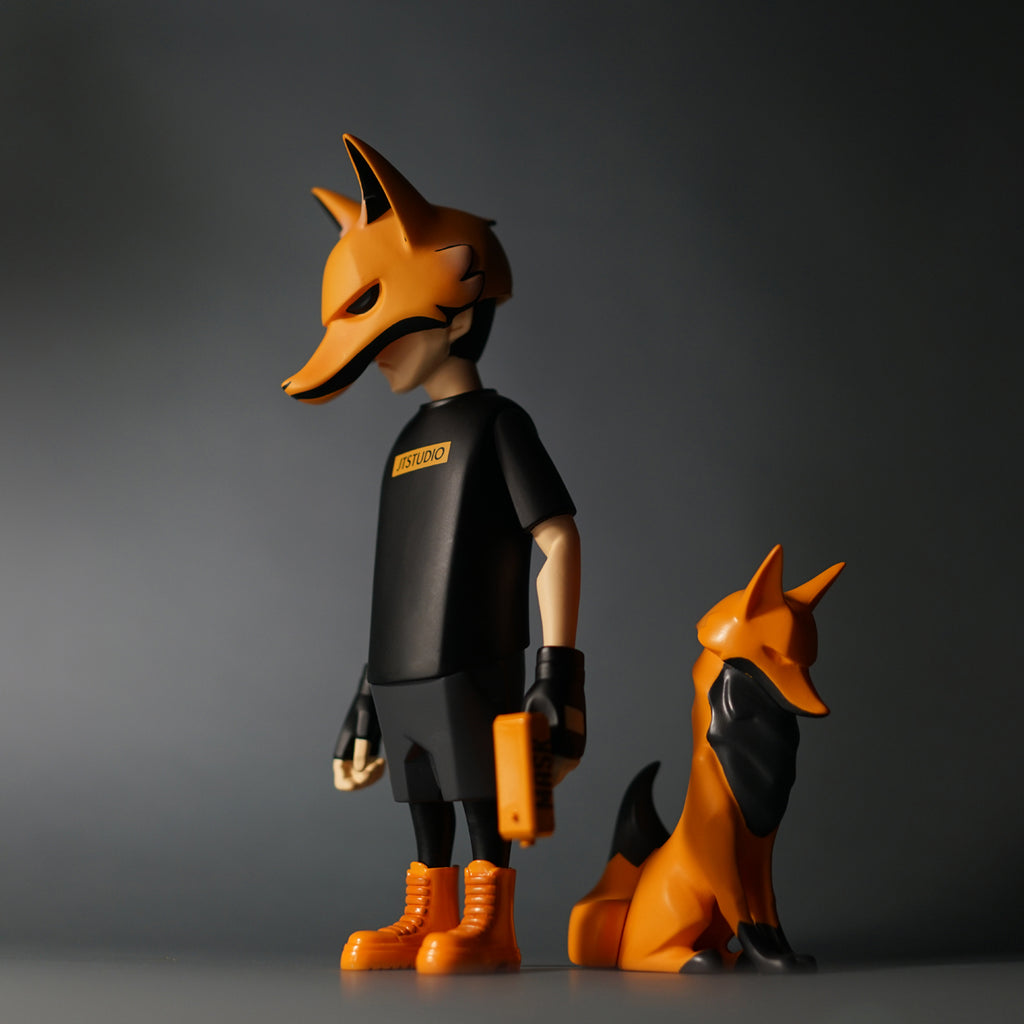 YORU & YOX Fire Edition 8-inch Vinyl Figure Set by JT Studio JT Studio Vinyl Art Toy Tenacious Toys®