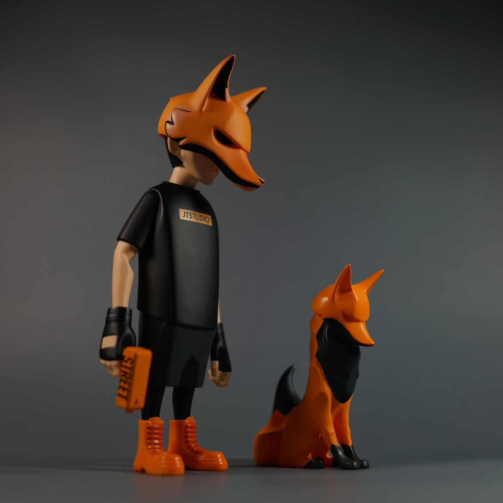 YORU & YOX Fire Edition 8-inch Vinyl Figure Set by JT Studio