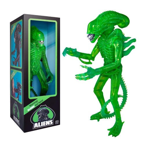 Super7 Aliens Supersize Warrior 18-inch Classic Toy 1986 Acid Green Edition