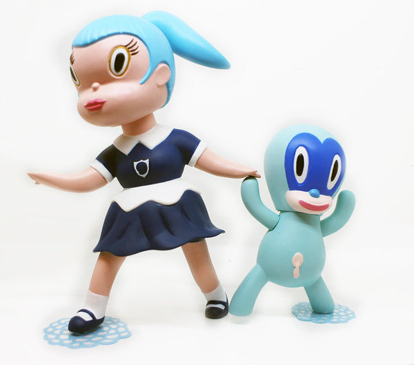 Gary Baseman Wild Girls 2pc Set: Beverly Blue Edition vinyl figures 3DRetro Tenacious Toys®