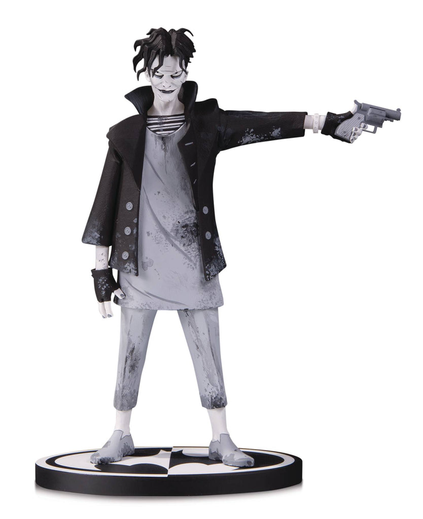 DC Comics Batman Black & White The Joker 7-inch Statue by Gerard Way DC Comics Statue Tenacious Toys®