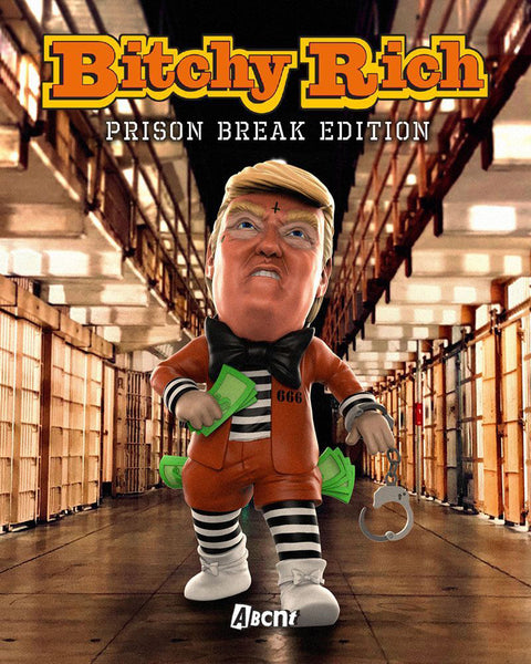 Bitchy Rich Prison Break Edition 8-inch vinyl figure by ABCNT x Mighty Jaxx PREORDER ships late March MightyJaxx Vinyl Art Toy Tenacious Toys®