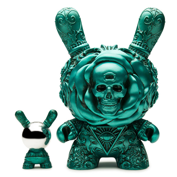 "Kidrobot Arcane Divination The Clairvoyant 8"" Dunny Metallic Teal by J*RYU"
