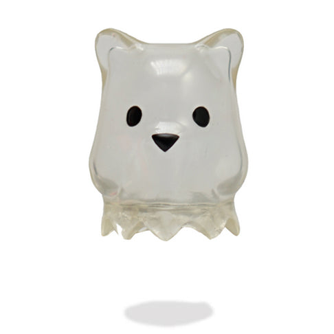 Luke Chueh Ghostbear Clear vinyl figure by Munky King PREORDER ships early Feb Munky King Vinyl Art Toy Tenacious Toys®