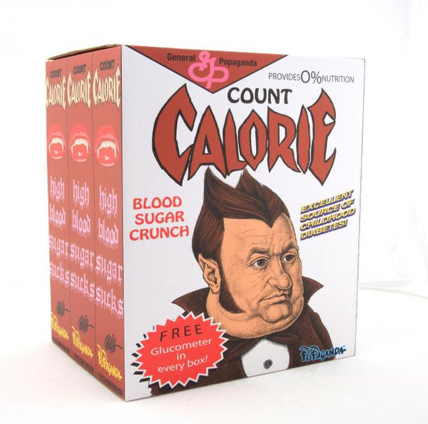 Count Calorie 8-inch vinyl figure by Ron English Ron English Vinyl Art Toy Tenacious Toys®