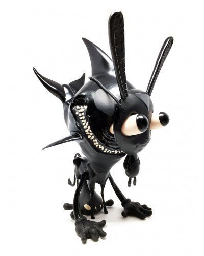 I'm Scared Stair Monsta: Midnight Edition 10-inch vinyl figure by Greg Craola Simkins - Tenacious Toys® - 1