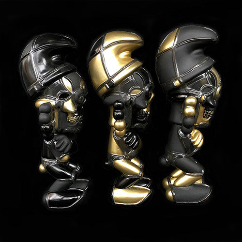 David Flores Deathsead Smurk Stay Gold 3 Piece Set of 7-inch Vinyl Figures - Tenacious Toys® - 4