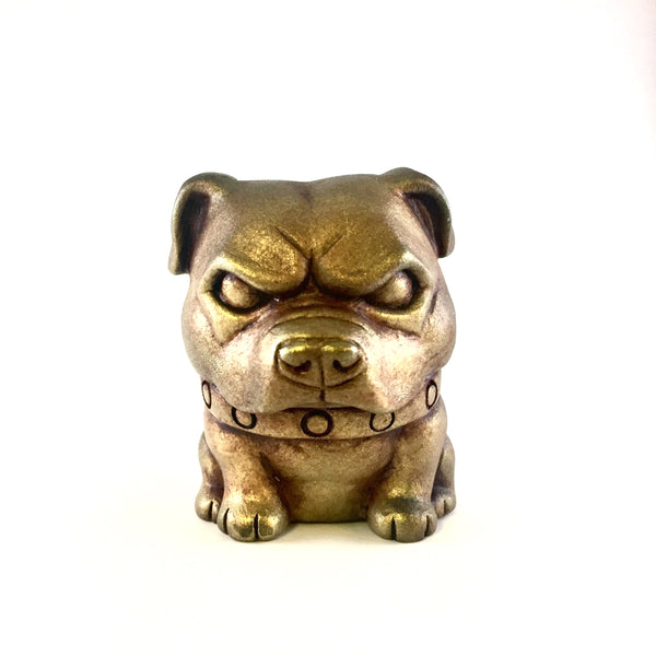 Year of the Earth Dog Chinese New Year Pitbull Gold 2.5-inch resin figure PREORDER Tenacious Toys® Resin Tenacious Toys®