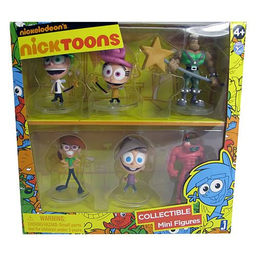 The Fairly OddParents 2-Inch Deluxe Mini-Figure 6-Pack - Tenacious Toys® - 1