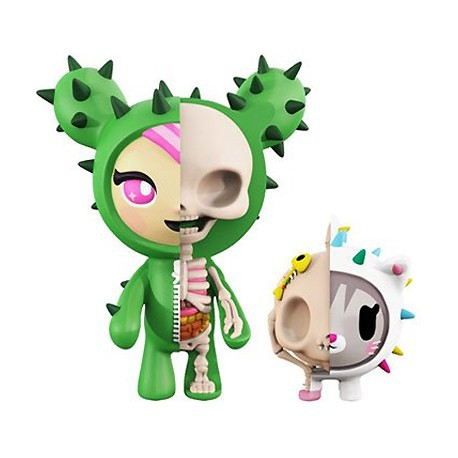XXRAY tokidoki Sandy & Carina 4-inch PVC figure set by Mighty Jaxx & Jason Freeny