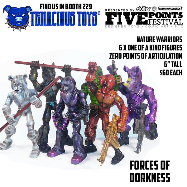 Nature Warriors 6-inch Figures by Forces of Dorkness Forces of Dorkness Tenacious Toys®
